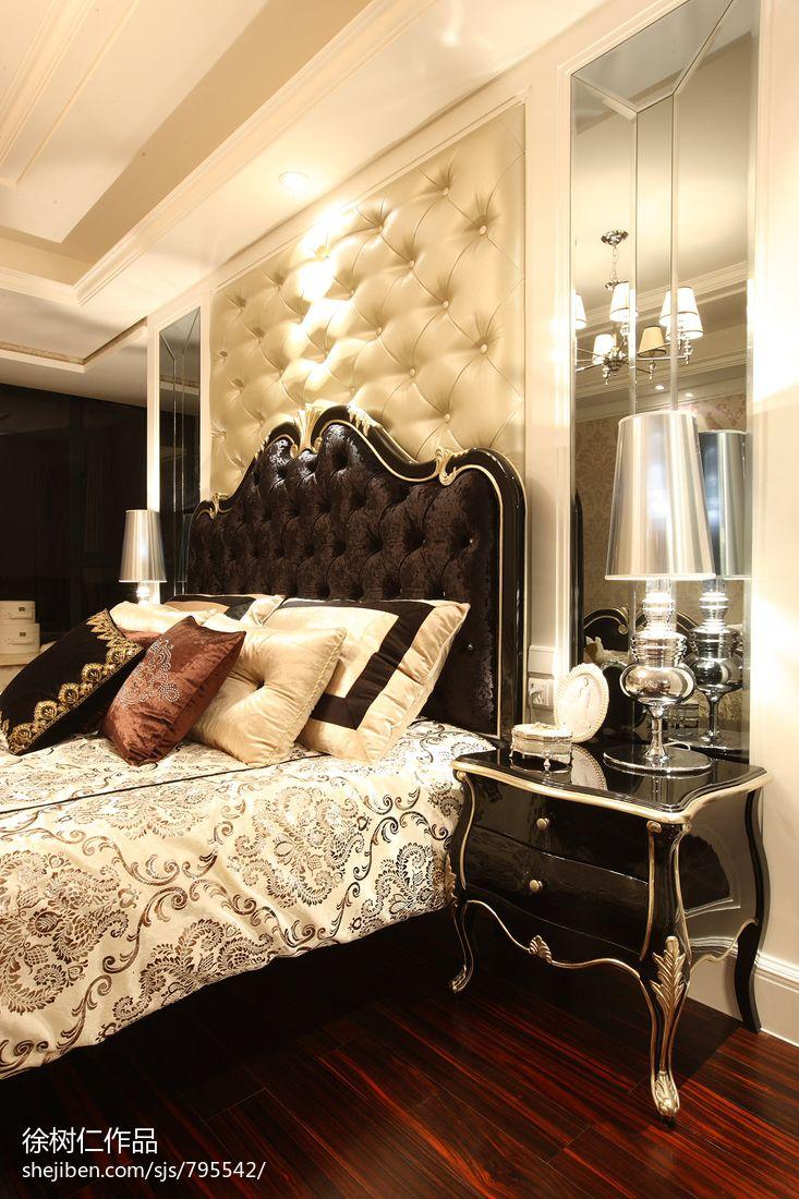 欧式床头软包背景墙效果图图片