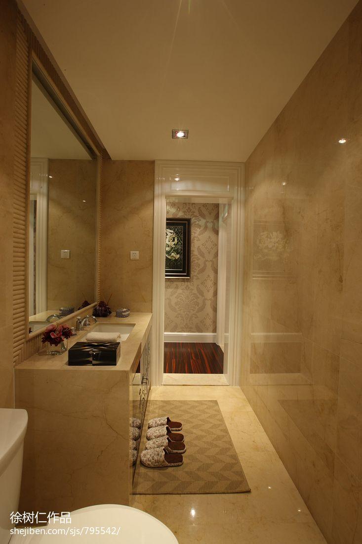 欧式卫生间洗手台装修效果图片