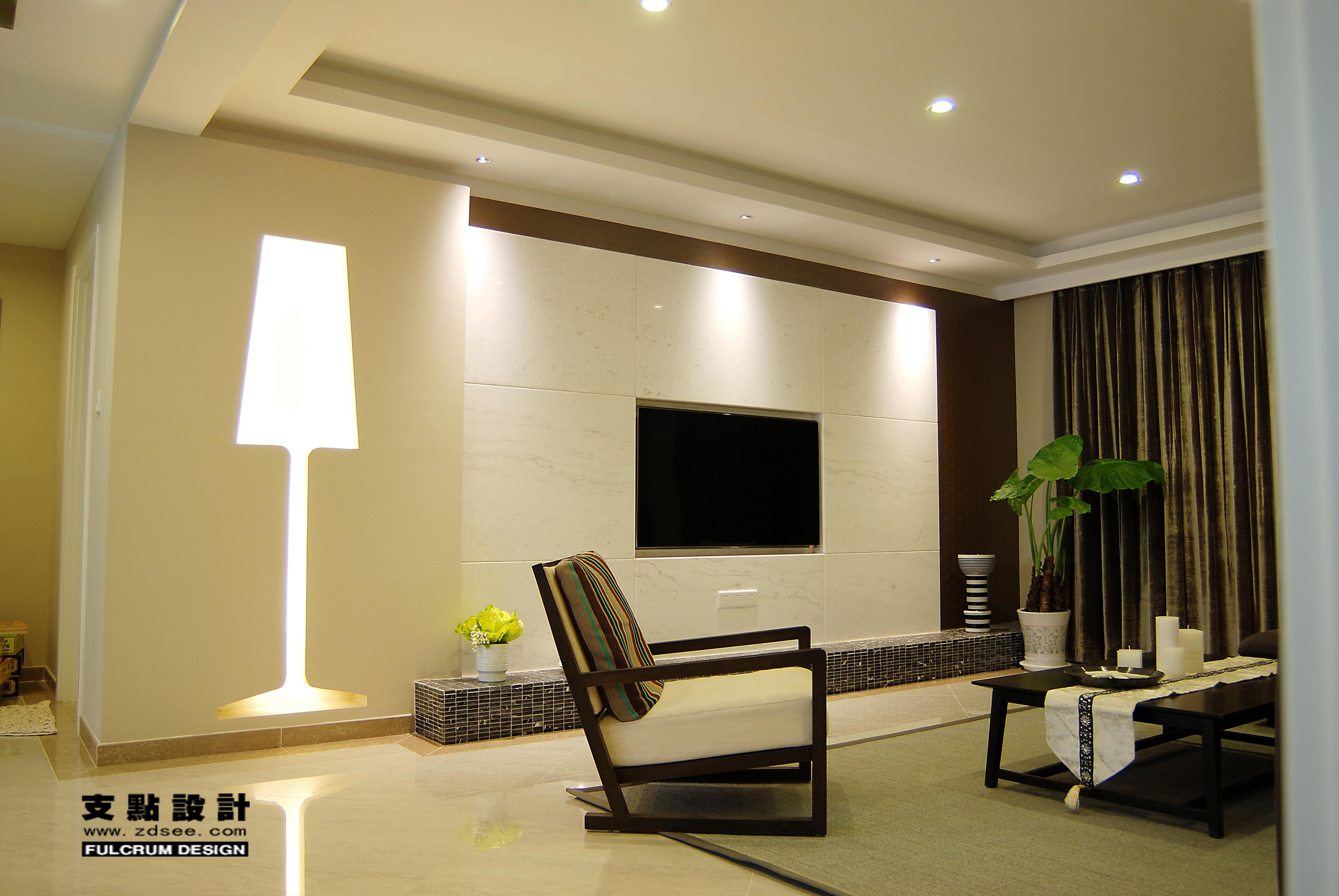 家装最新客厅瓷砖电视墙效果图