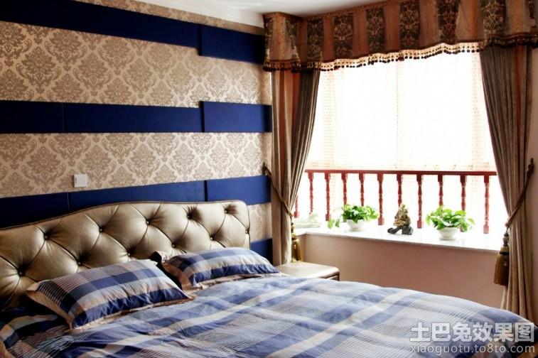 卧室床头无纺布壁纸贴图