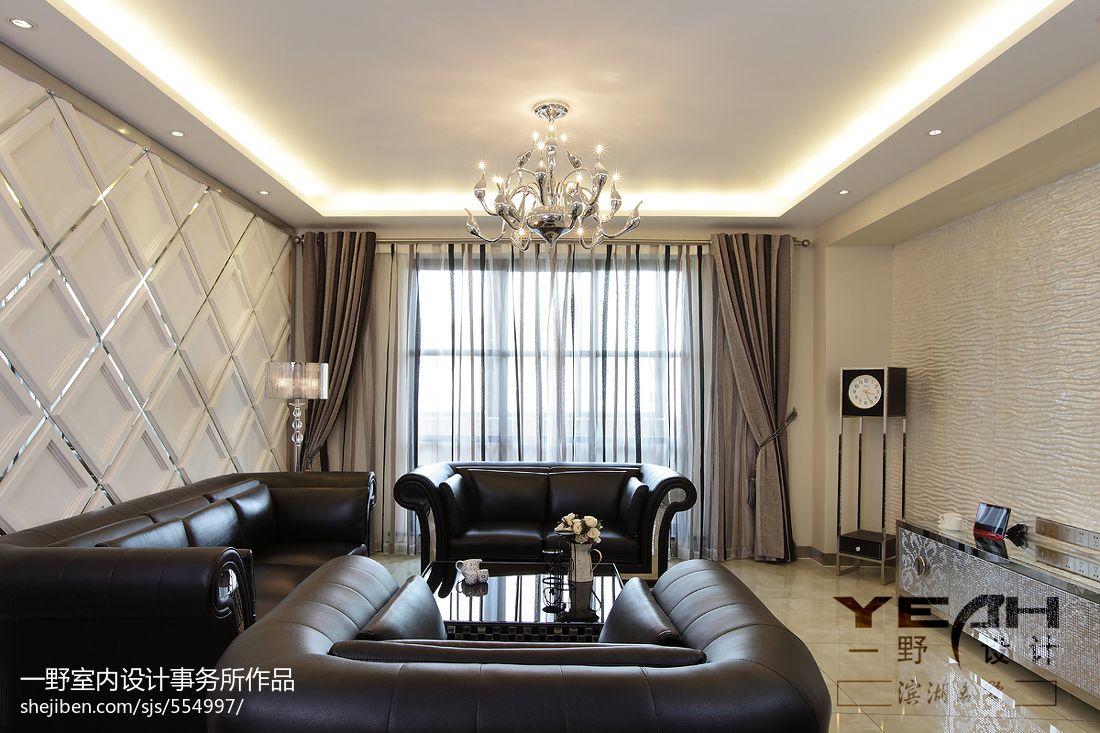 欧式现代风格客厅吊顶灯效果图欣赏图片