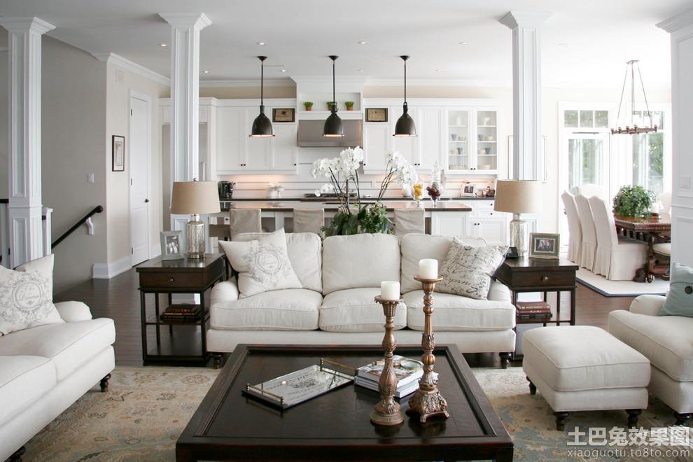 欧式风格客厅沙发边柜图片