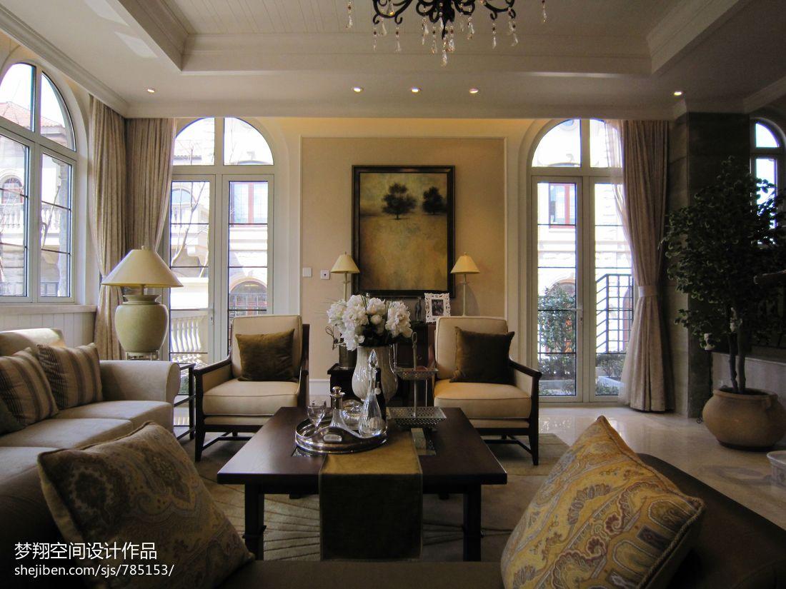 欧式客厅沙发照片背景墙效果图