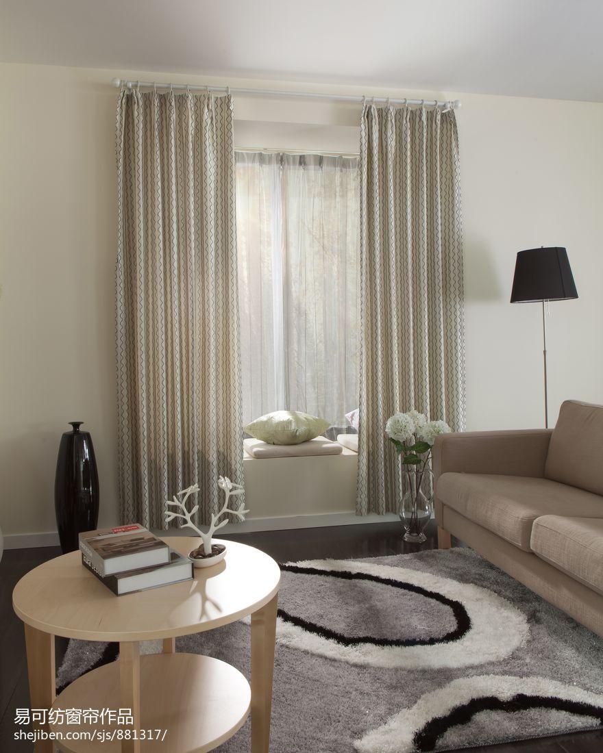 2013客厅飘窗窗帘装修效果图