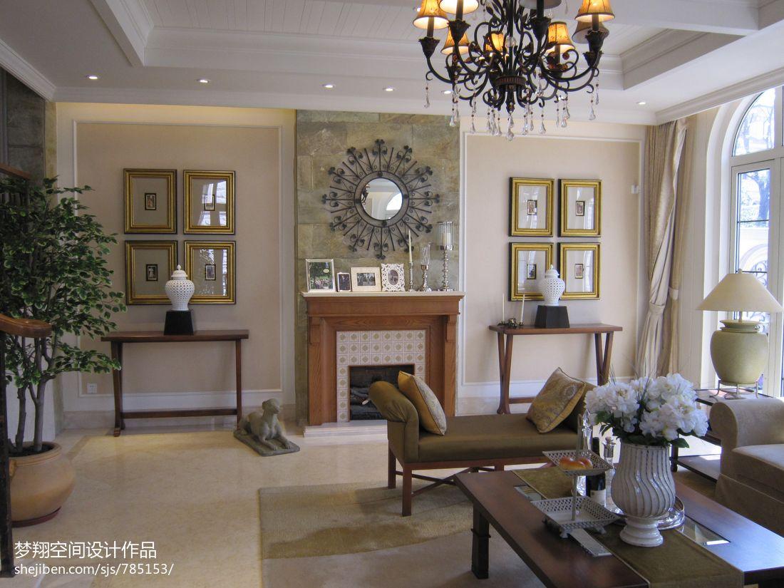 欧式客厅壁炉装修效果图欣赏