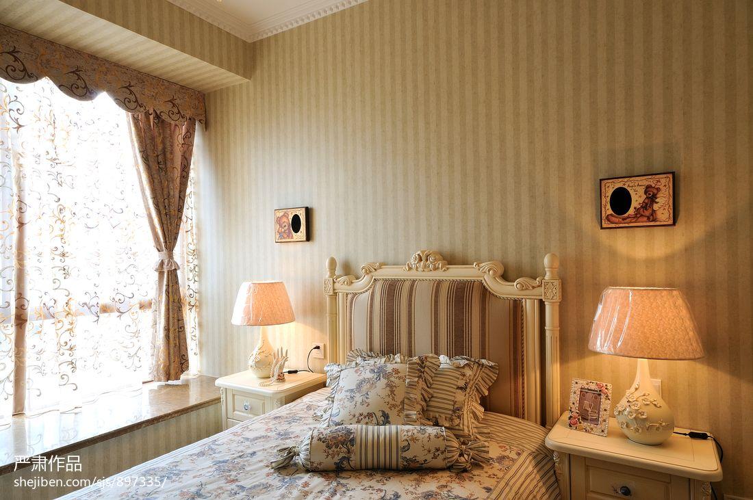 欧式小卧室壁纸装修效果图