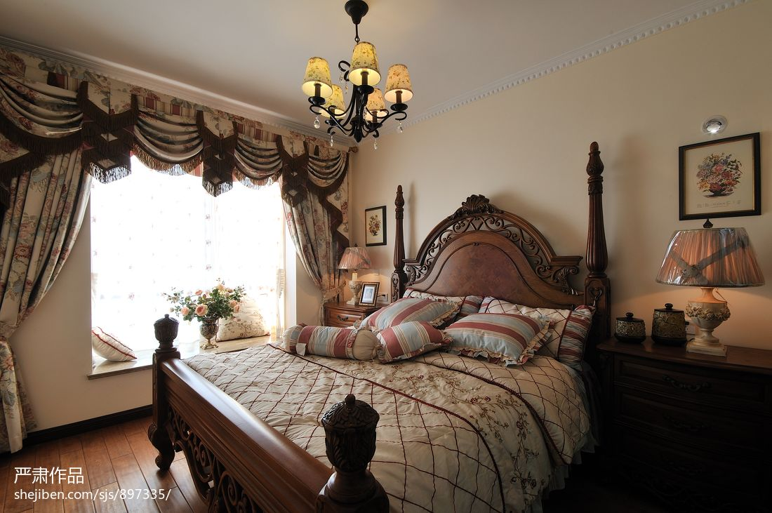 美式卧室效果图大全2013图片 - 装修效果图 - 九正图片