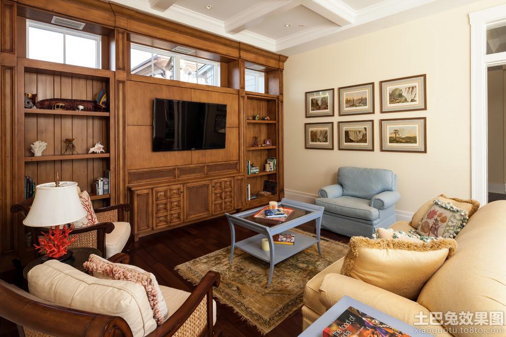 客厅实木电视背景墙效果图