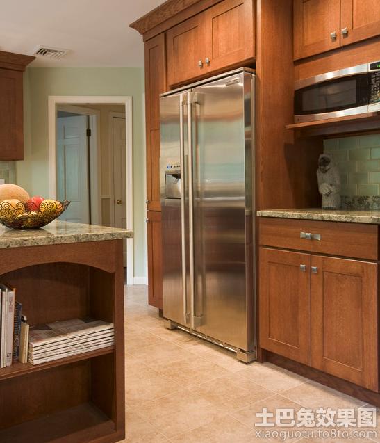 厨房实木橱柜图片 - 装修效果图