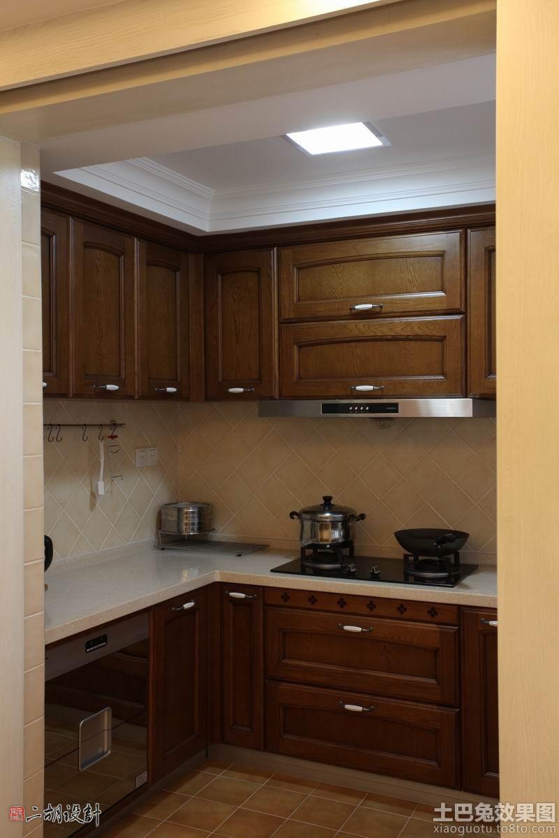 家居图库 > 小厨房实木橱柜设计图片图片