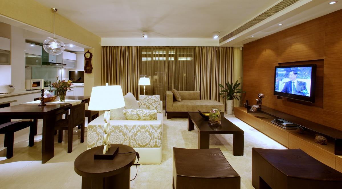 客厅木质电视背景墙效果图片