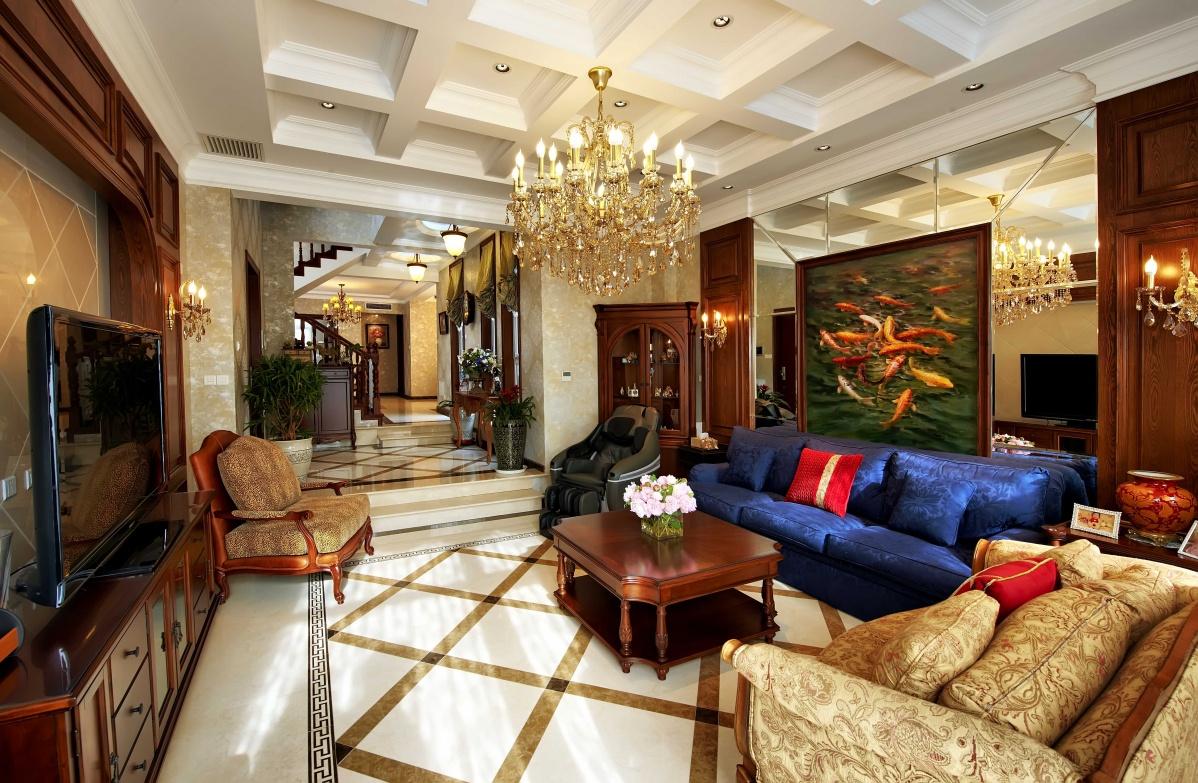 美式风格别墅家装吊顶效果图图片
