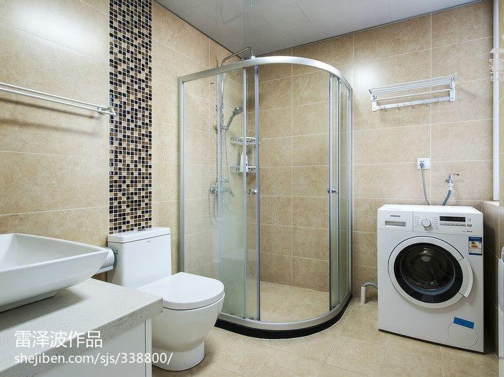 卫生间淋浴室玻璃门隔断图片