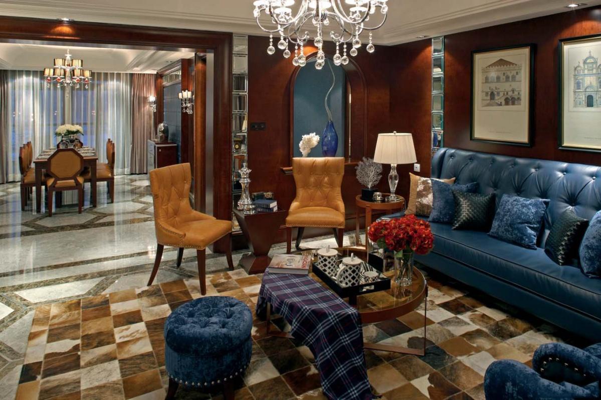 欧式风格客厅沙发的摆放装修图片欣赏
