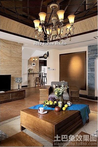 客厅茶镜集成吊顶效果图