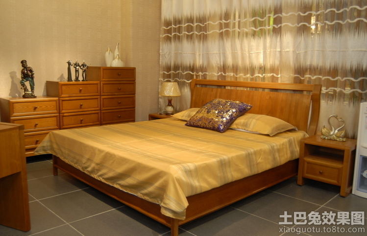 板式家具床图片