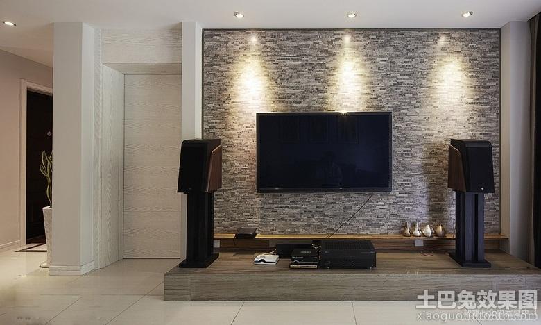 仿古砖电视背景墙装修效果图大全2013图片