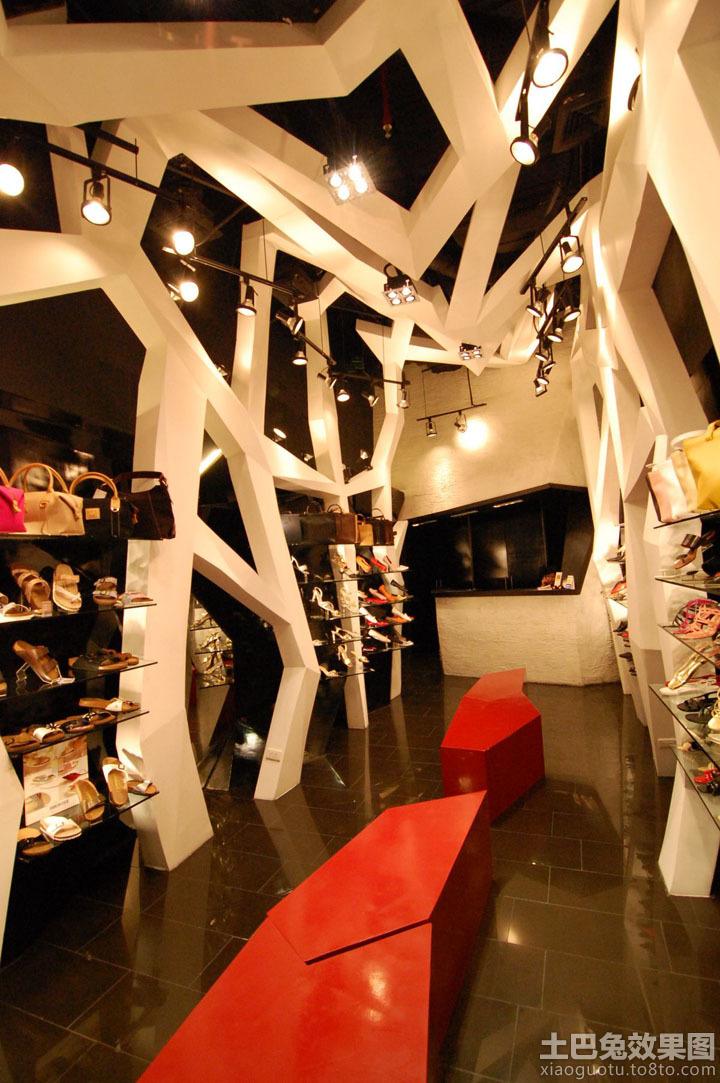 小型个性鞋店装修图