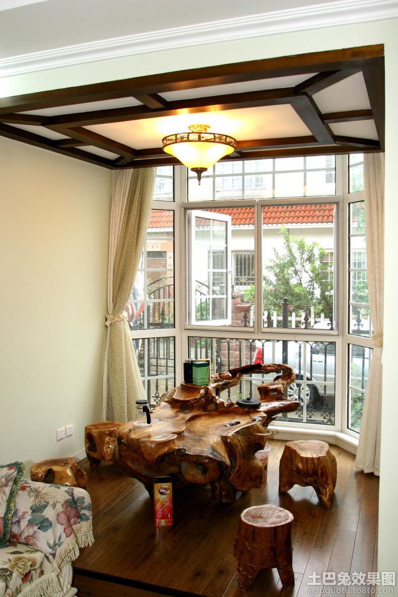 家庭茶室吊顶装修效果图