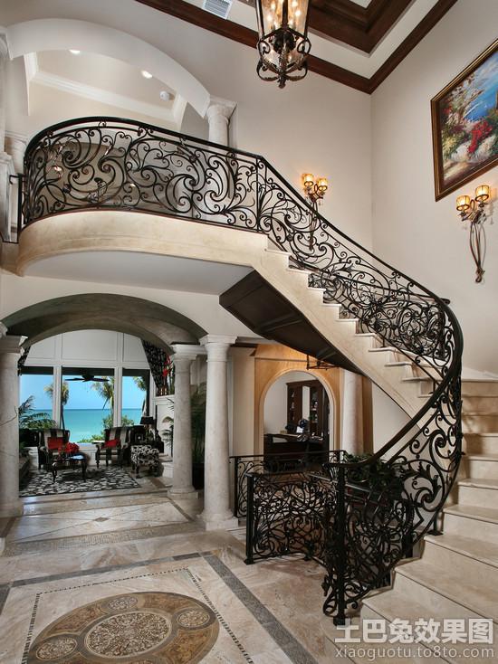 欧式别墅楼梯设计图片大全
