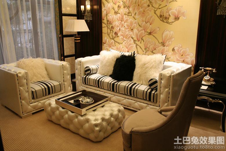 中式沙发背景墙挂画图片