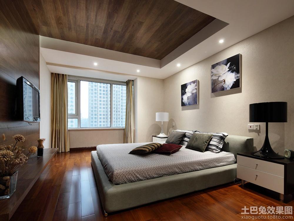 中式风格卧室木吊顶装修效果图片