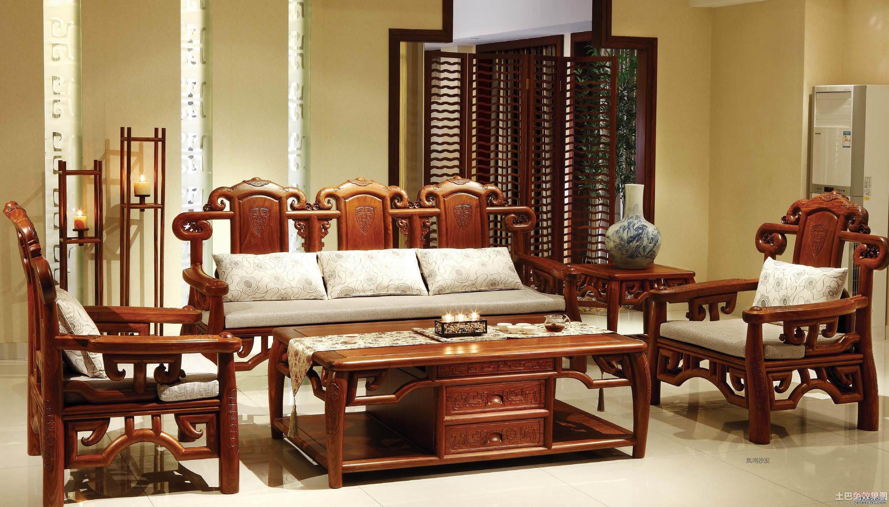 客厅红木沙发图片