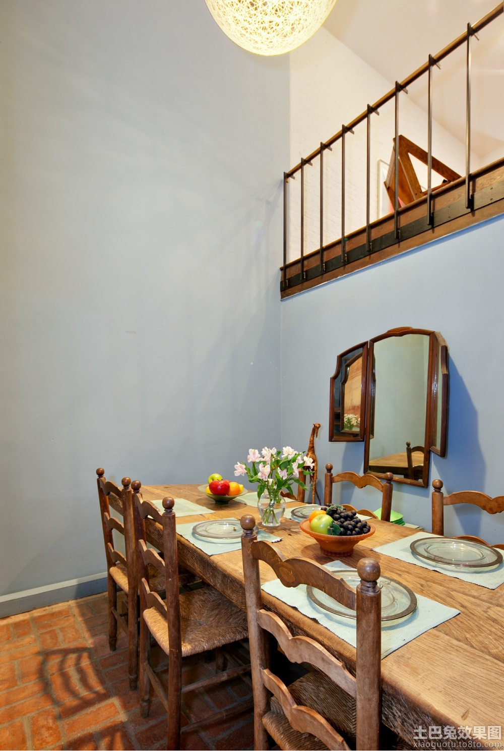 家庭餐厅墙面颜色效果图图片
