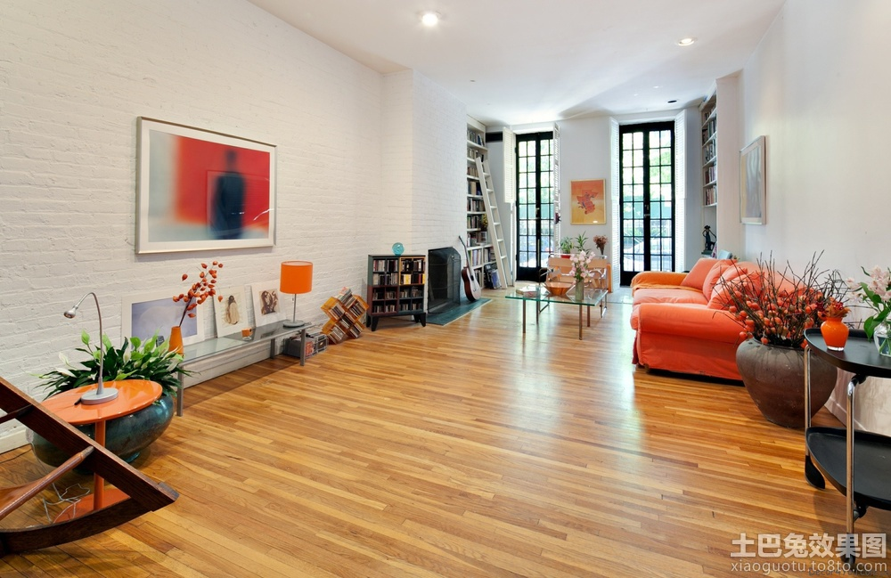 现代别墅室内木地板贴图