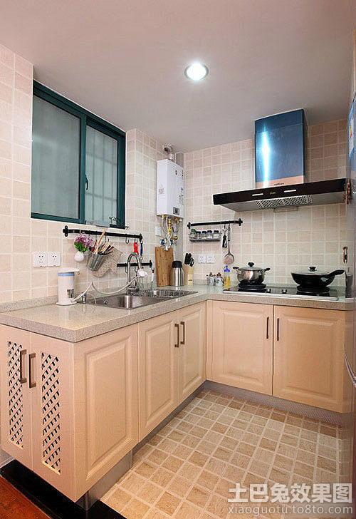 厨房地板砖铺贴效果图