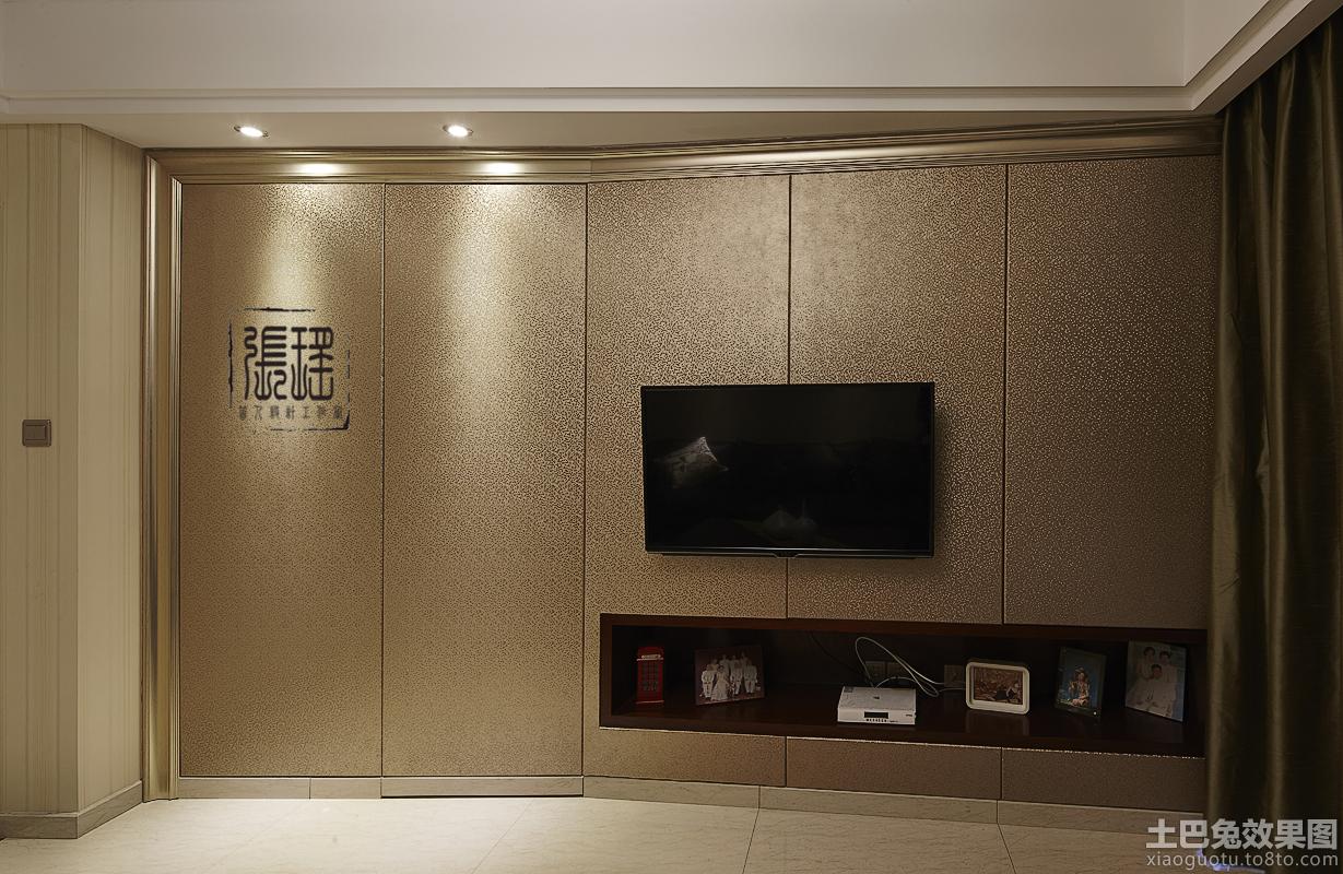 隐形门电视背景墙装修效果图大全2013图片