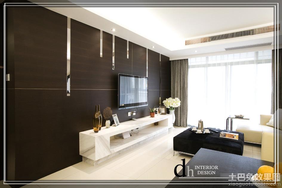 现代风格电视机背景墙装修效果图大全