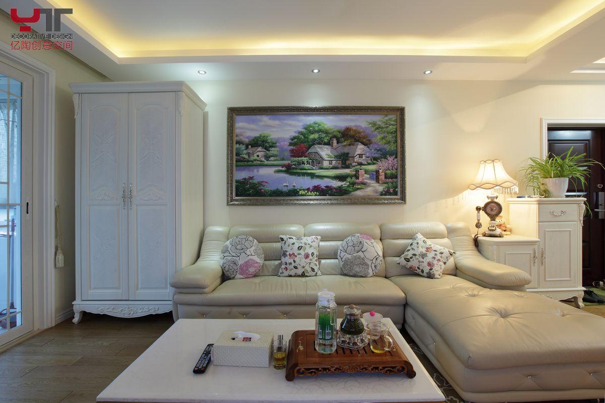 欧式风格客厅沙发边柜效果图图片