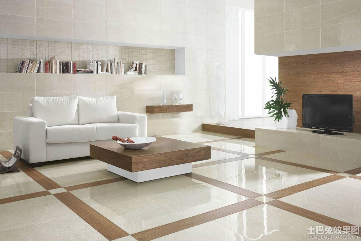 客厅地板砖铺设效果图