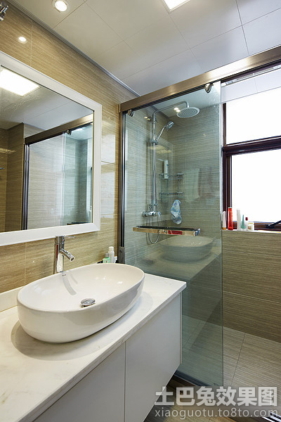 干湿分离卫生间装修洗手台效果图