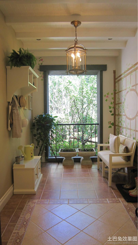 法式田园四室两厅阳台装修效果图欣赏图片