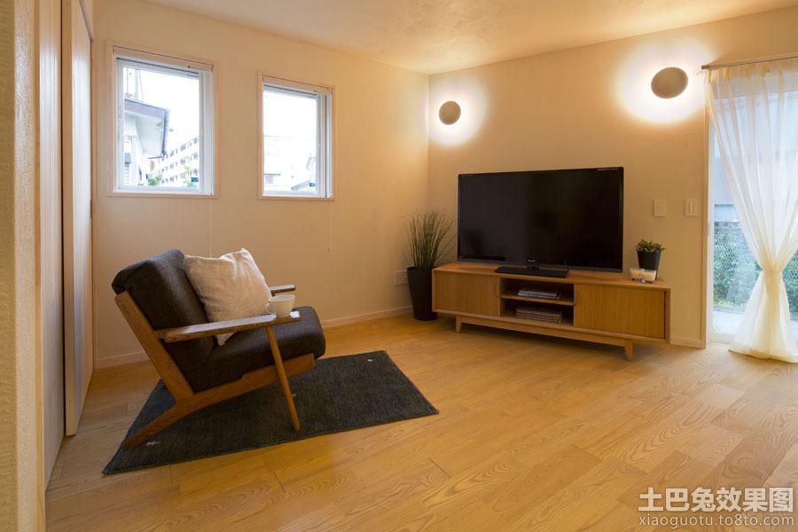 原木色装修小客厅效果图片