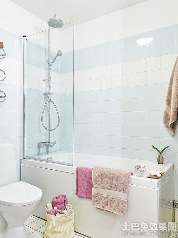 北欧卫生间淋浴室隔断效果图
