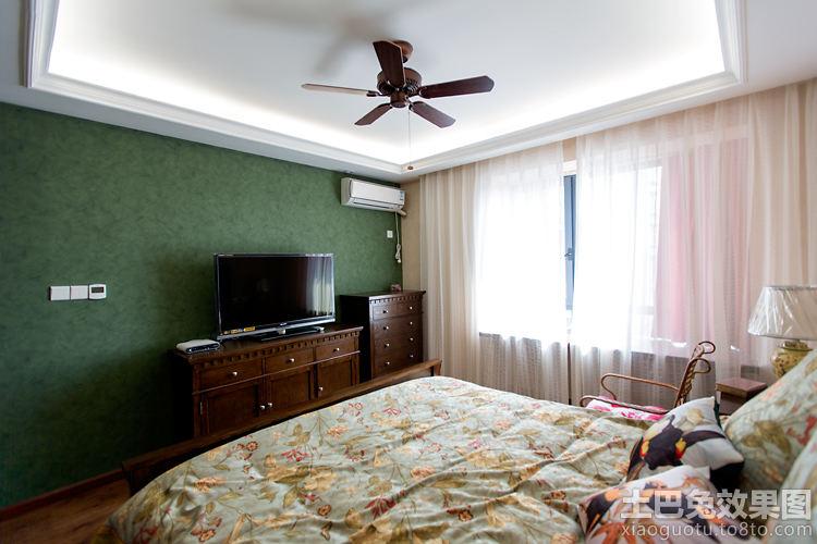 美式简装主卧室装修效果图图片
