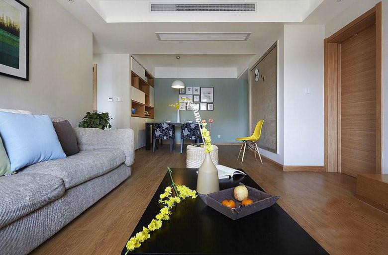 简约风格客厅木地板装修效果图