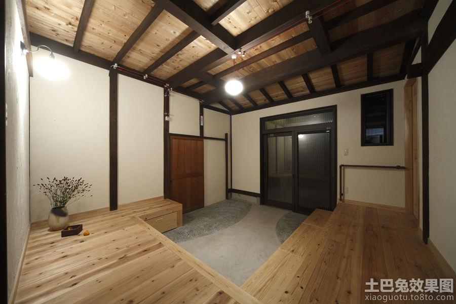 实木门厅天花吊顶效果图