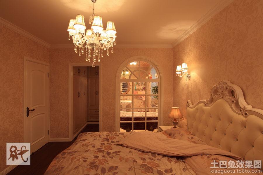 欧式暖色调卧室装修效果图