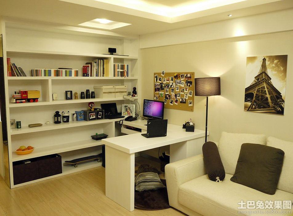 开放式书房书架设计图欣赏 - 装修效果图 - 九正家居网图片