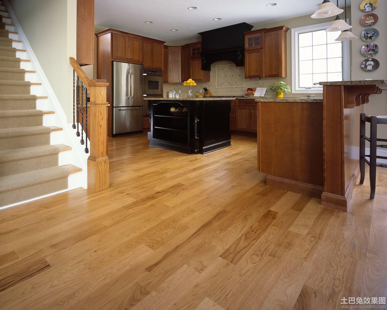 别墅厨房木地板贴图
