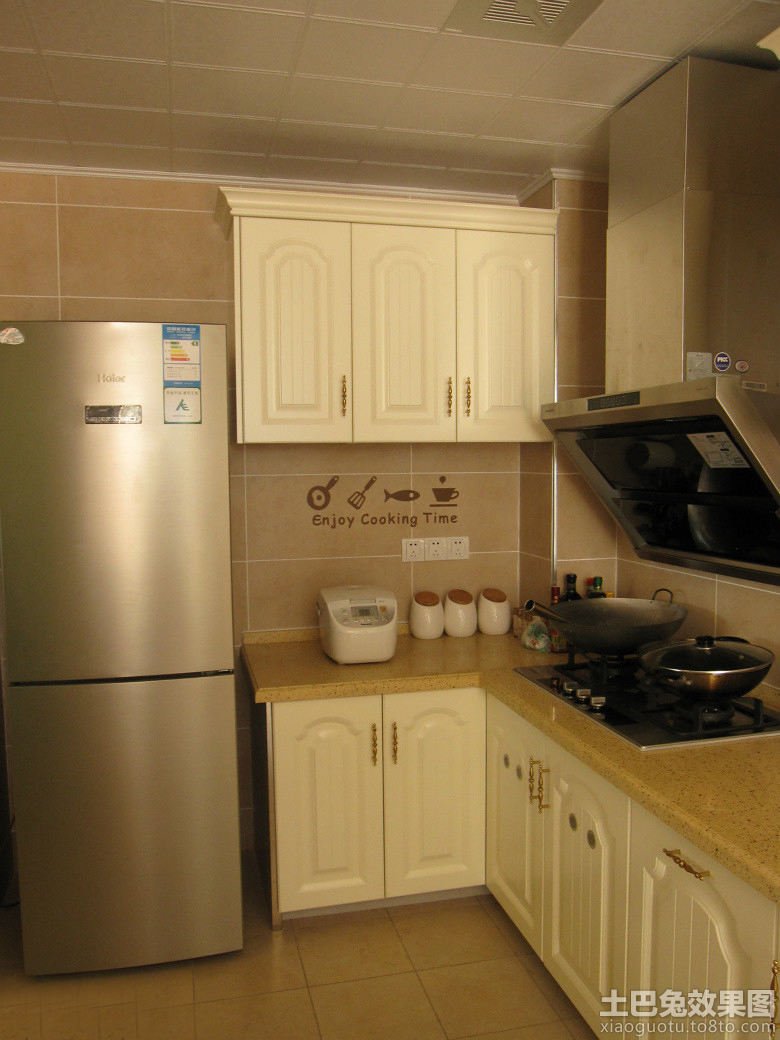 l型小厨房实木橱柜图片大全