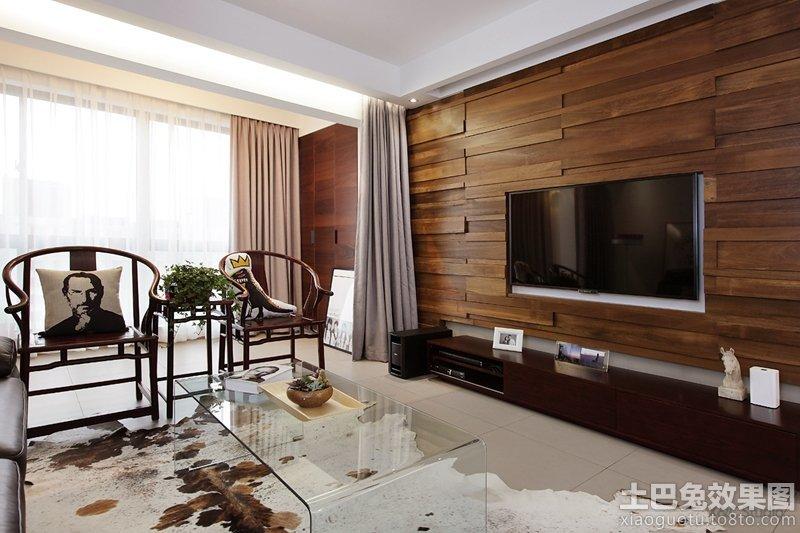 现代北欧实木电视背景墙装修效果图大全