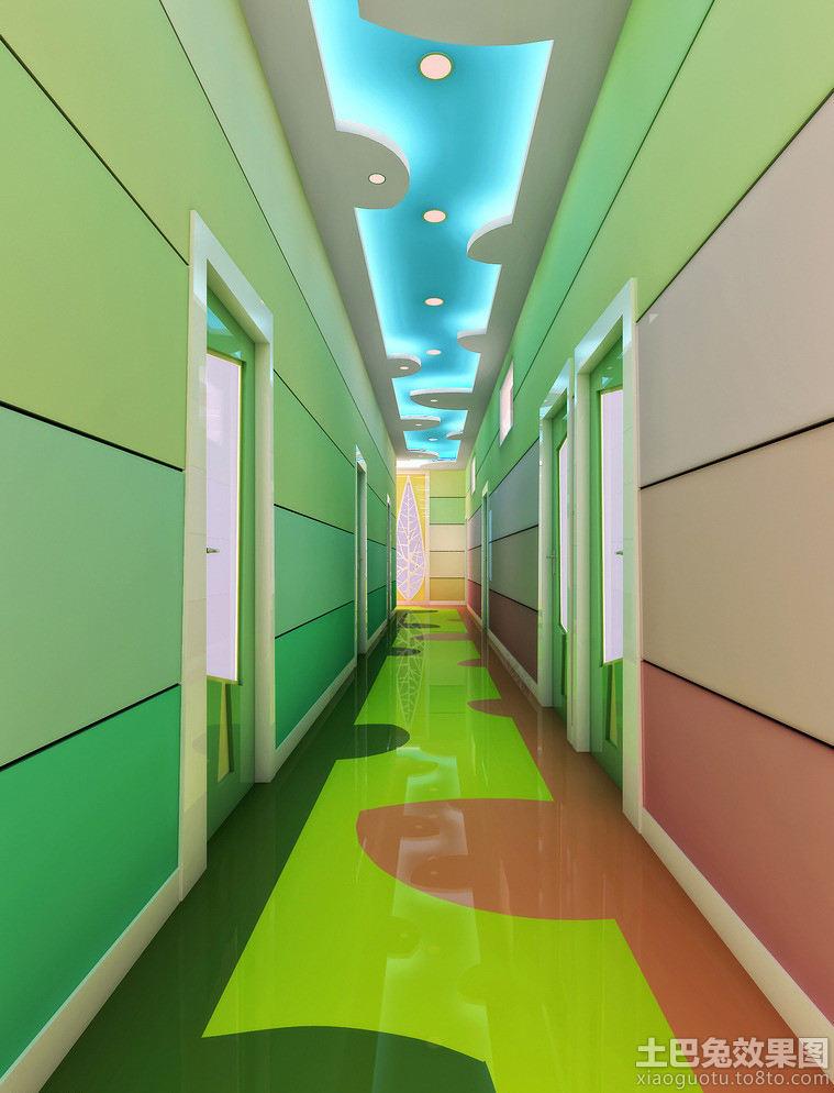 幼儿园环境布置走廊效果图