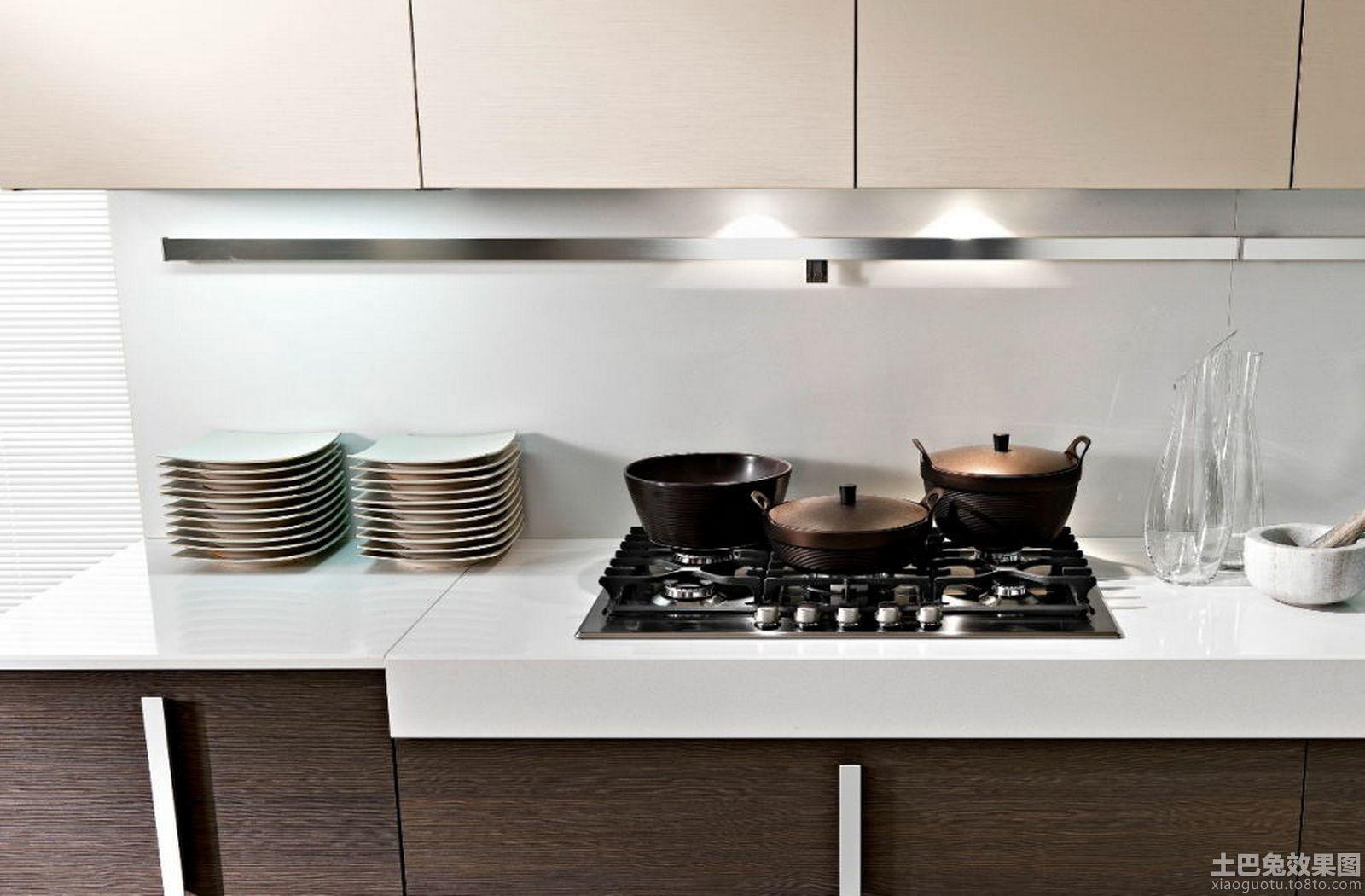 4款砖砌厨房灶台装修效果图