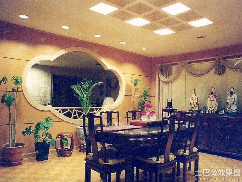 中式圆餐桌图片 - 装修效果图 - 九正家居网