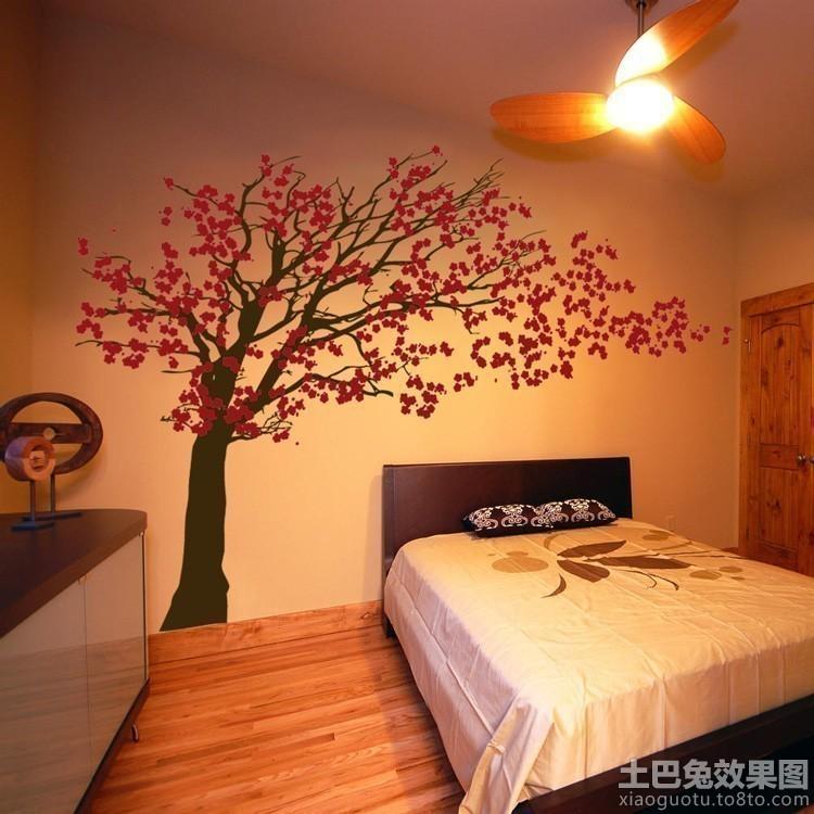 卧室立体墙贴效果图欣赏